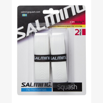 SALMING Squash X3M Sticky Grip White 2-pack