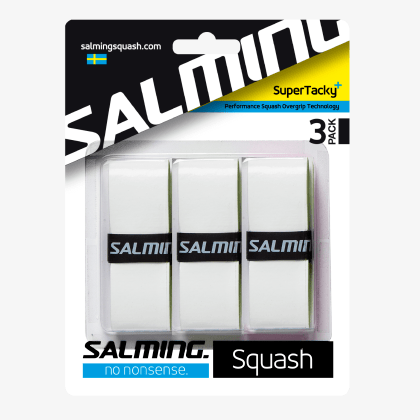SALMING Squash SuperTacky+ OverGrip White 3-pack
