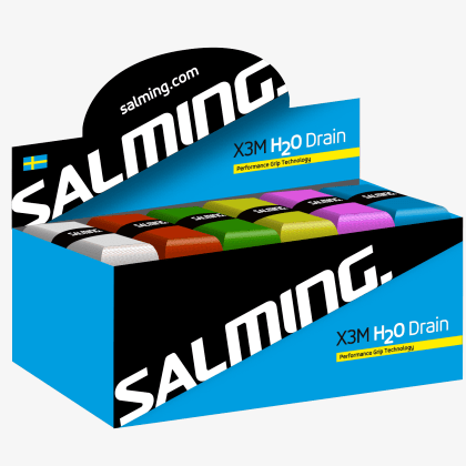 SALMING H2O Drain OverGrip - Box24 Mixed colours 24-pack