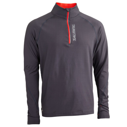 SALMING Halfzip LS Tee Men Dark Grey