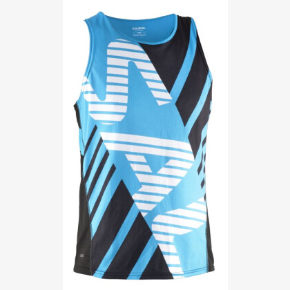 SALMING Run Team Race Singlet Black/Cyan