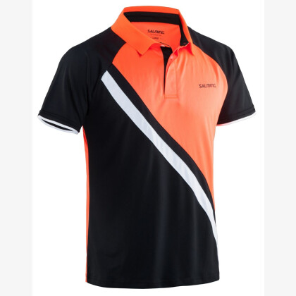SALMING Performance Polo Men Black/Magma Red
