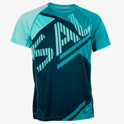 SALMING Run Bold Print Tee Deep Teal/Lapis