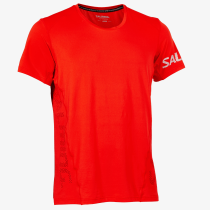 SALMING Run Laser Tee Men Fiery Red