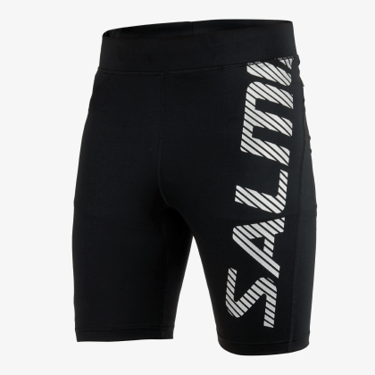 SALMING Run Power Logo Tights Men Black/Silver Reflective