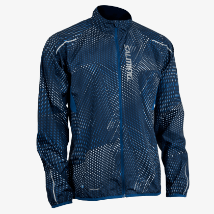 SALMING Run Ultralite Jacket 3.0 Men Poseidon All Over Print