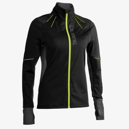 SALMING Run Thermal Wind Jacket Women Black/Black Melange