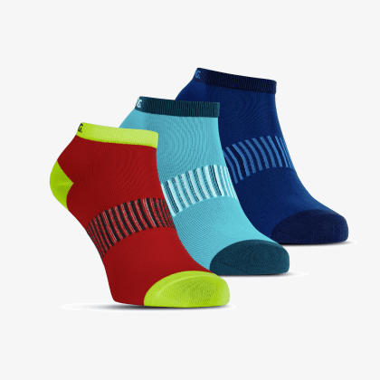 SALMING Performance Ankle Sock 3-pack Blue/Red/Lapis