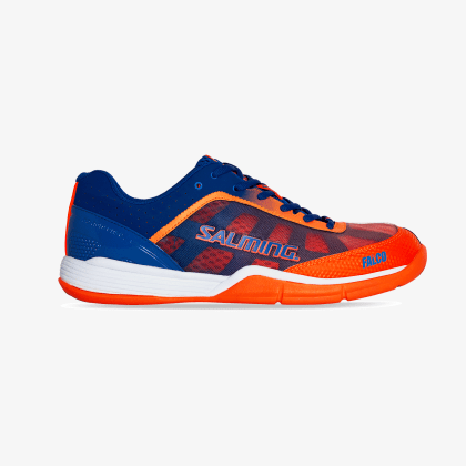 SALMING Falco Kid Limoges Blue/Orange Flame Velcro
